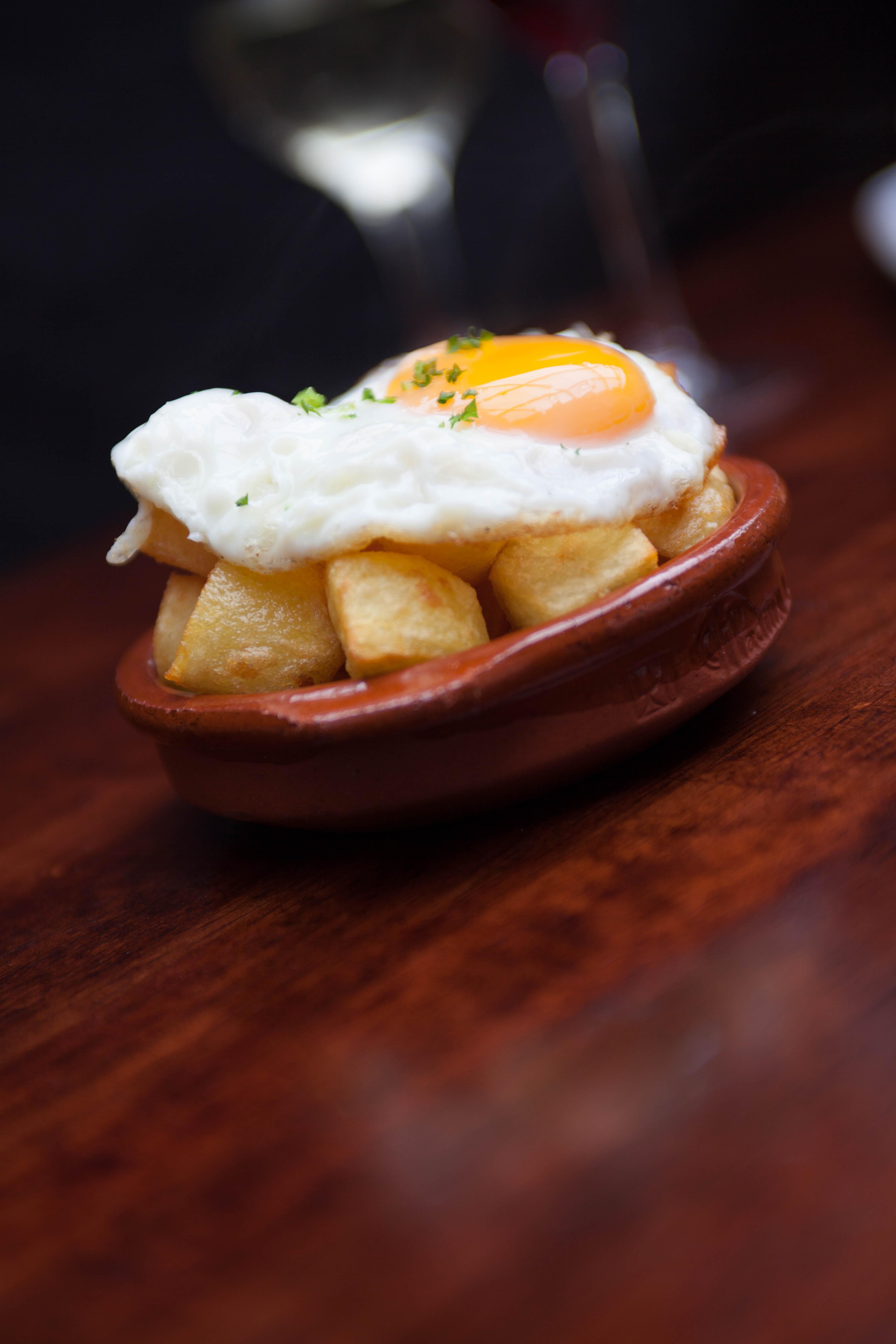 Patatas Bravas con Huevos | Tapas Bar and Spanish ...